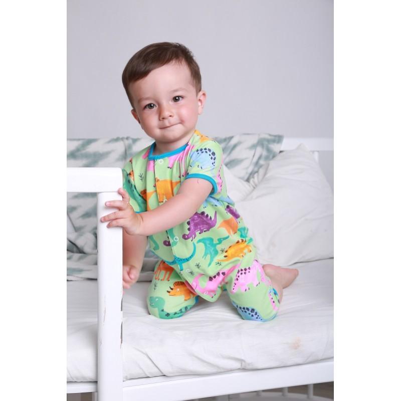 фото летний детский песочник мальчику Dino салатовый