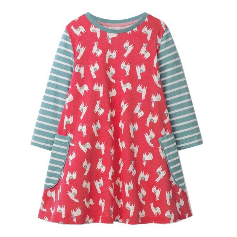 Платье для девочки Ламы