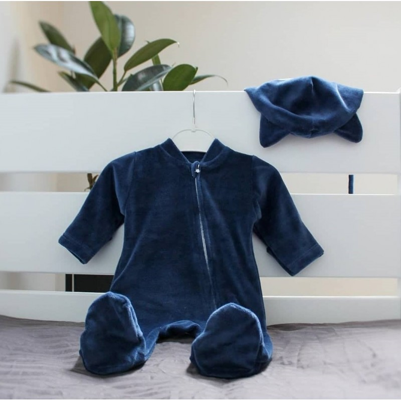 фото человечек синий велюр