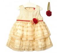 Платье для девочки Цветочная нота, бежевый
