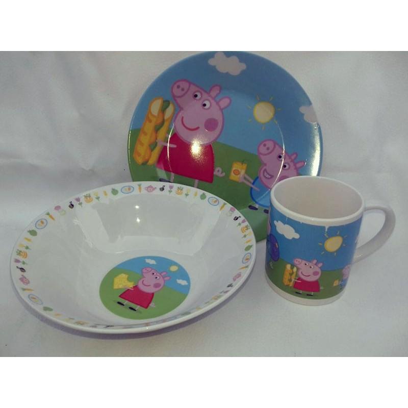 фото Детская посуда фарфор пеппа