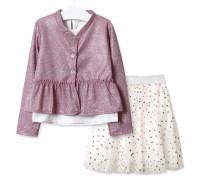 Комплект для девочки 3 в 1 Зонтик, розовый