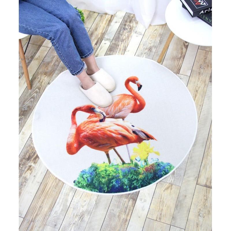 Коврик Фламинго 100 х 100 см