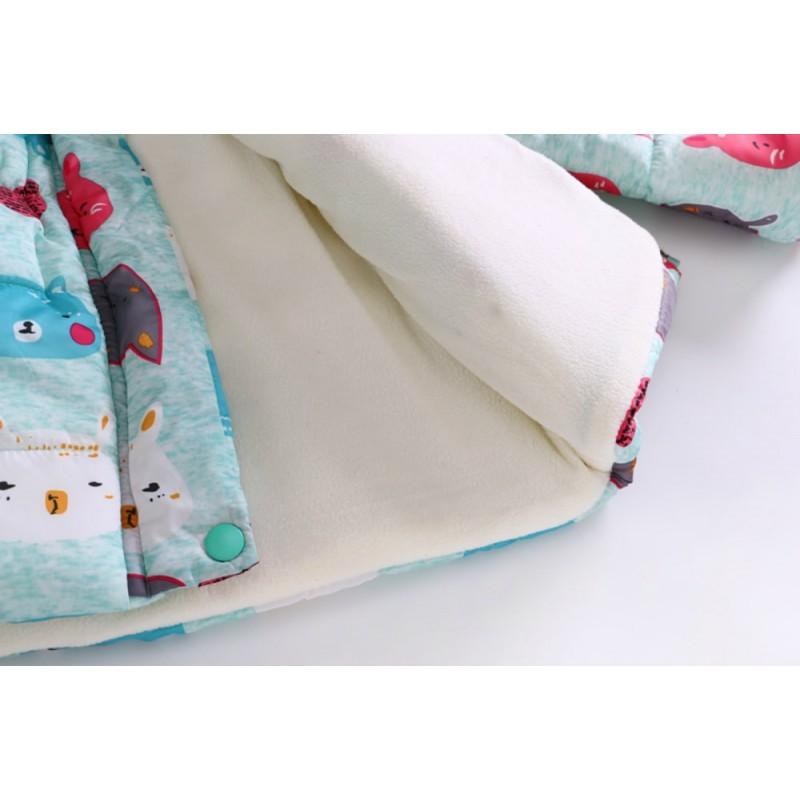 Демисезонная куртка для девочки Цветные зверюшки, Turquoise