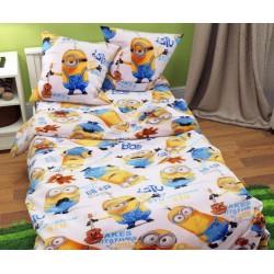 Комплект детское постельное белье полуторка Миньйоны Тиротекс