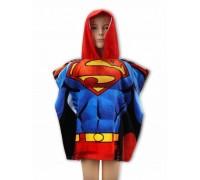 Полотенце-пончо для мальчика Superman