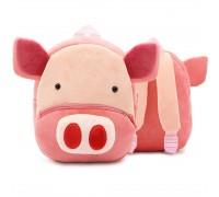 Рюкзак велюровый Свинка