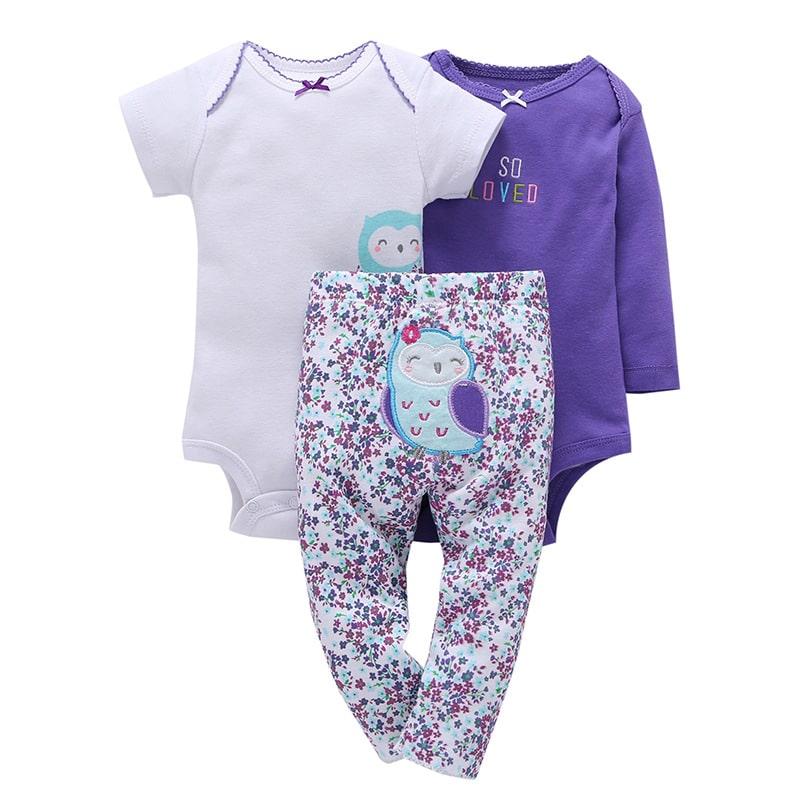 фото Боди и штанишки для новорожденной девочке