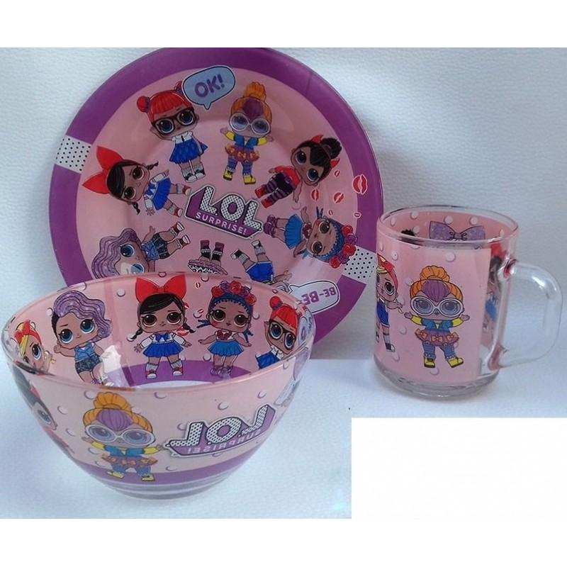 картинка Набор детской посуды LOL