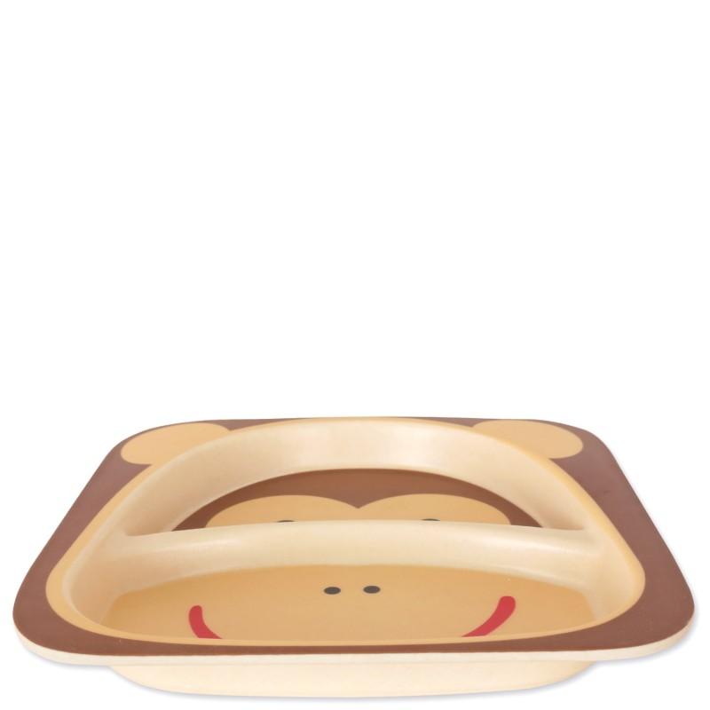 Тарелка из бамбукового волокна Обезьяна