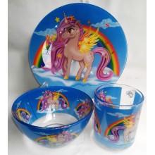 Посуда детская PEGAS Интерос подарочный набор 3ка