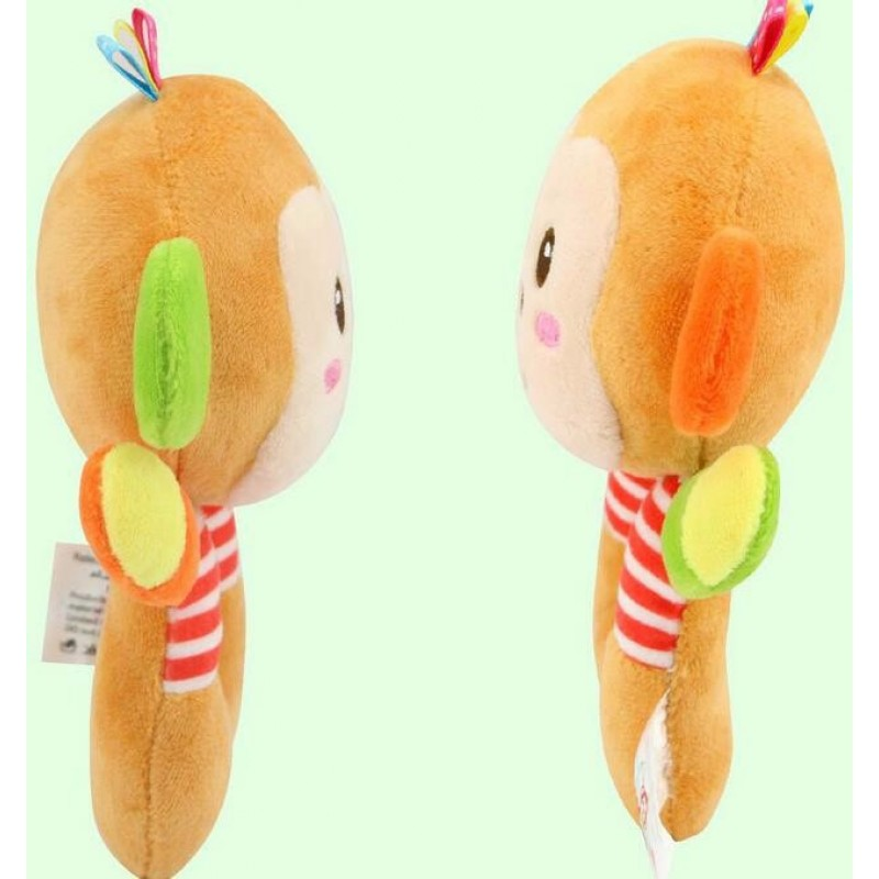 Мягкая игрушка - погремушка Мартышка
