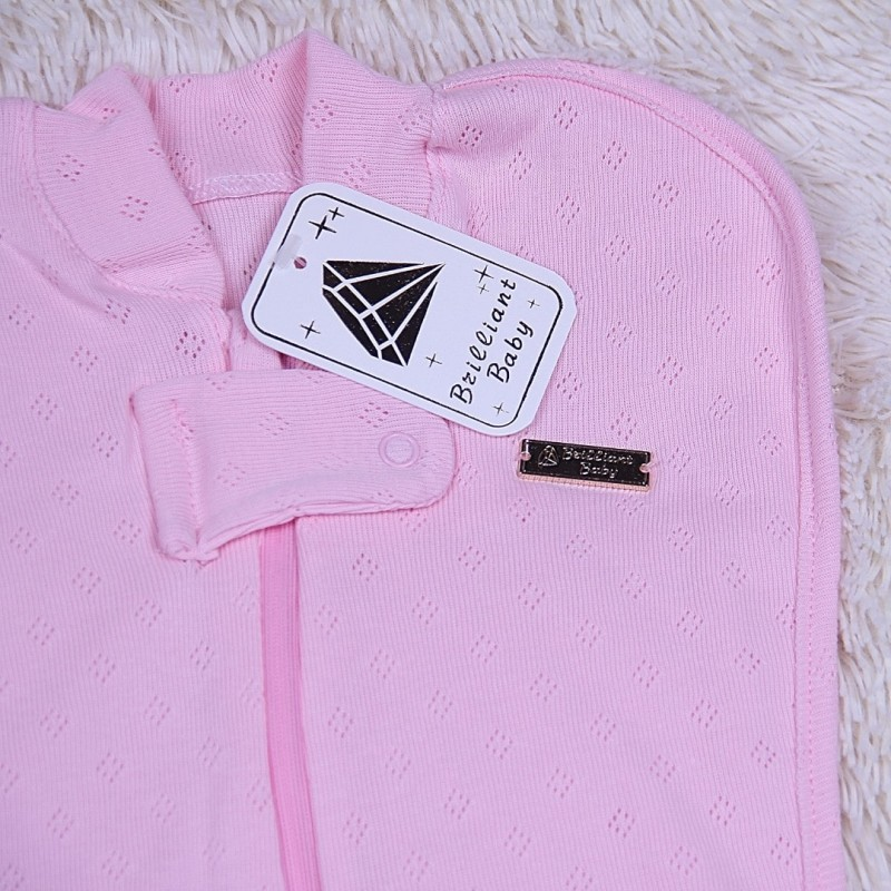 Кокон пеленка для новорожденных розовый