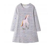 Платье для девочки Единорог и звёзды
