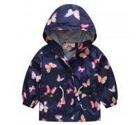Куртка-ветровка для девочки Розовые бабочки