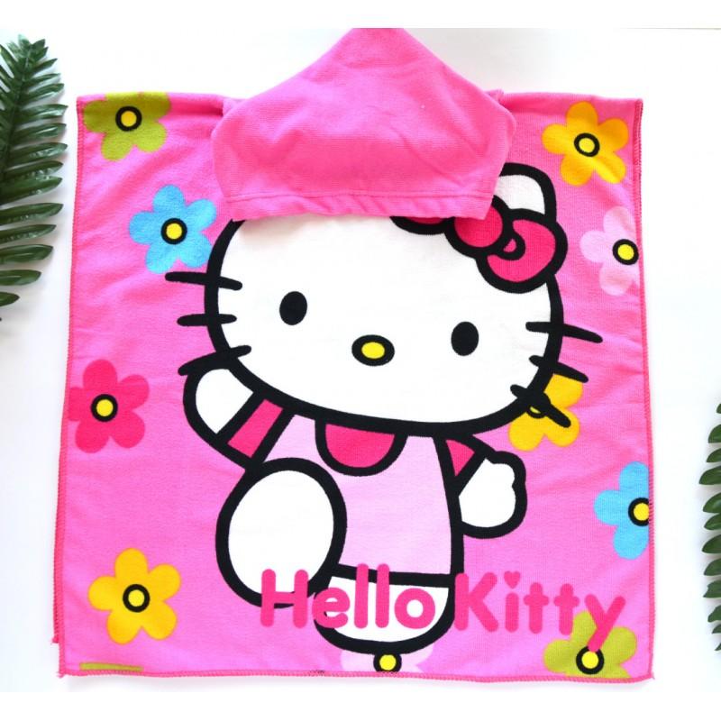 фото детское полотенце пончо HELLO KITTY