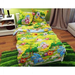 фото Детское постельное белье с 3D Смешарики