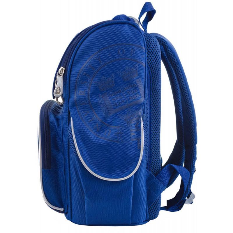 Рюкзак каркасный школьный синий