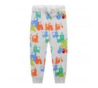 Штаны для мальчика Разноцветные тракторы