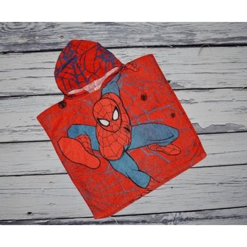 фото детское полотенце пончо капюшон SPIDER MAN