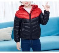 Куртка весенняя детская, красный-черный