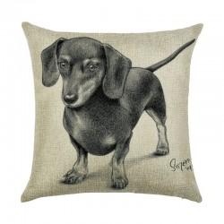 Наволочка декоративная Black dachshund 45 х 45 см