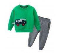 Костюм для мальчика утеплённый Крокодил-водитель, зелёный