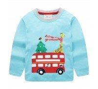 Лонгслив детский New year bus