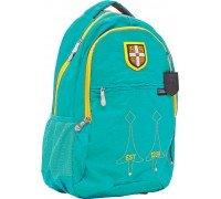 Рюкзак подростковый бирюзовый 29 * 14 * 46 см