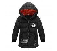 Куртка удлиненная демисезонная для девочки Лондон, черный