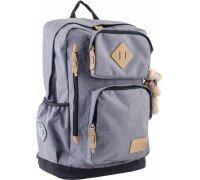 Рюкзак подростковый серый 32 * 45.5 * 16.5
