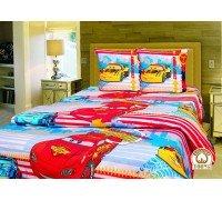 Комплект детское постельное белье полуторка Тачки Маквин Тиротекс