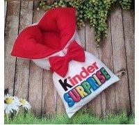 Конверт Kinder красный