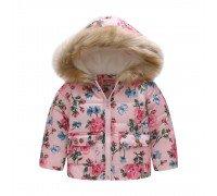Демисезонная куртка для девочки Голубая бабочка