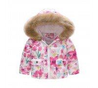 Демисезонная куртка для девочки Весенние цветы