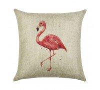 Подушка декоративная Одинокий фламинго 45 х 45 см