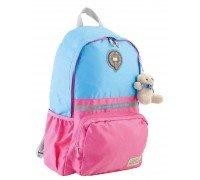 Рюкзак подростковый голубо-розовый 29 * 45 * 13