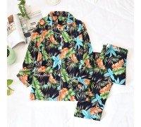 Пижама для кормящих мам Райский сад
