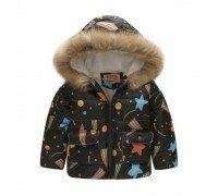 Демисезонная детская куртка Радуга звезд