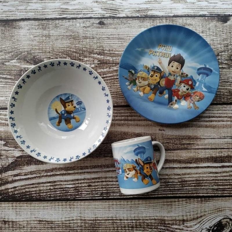 фото Набор детской посуды paw patrol