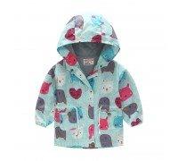 Куртка-ветровка для девочки Разноцветные зверушки