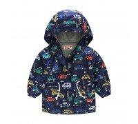 Куртка-ветровка для мальчика Транспорт в городе