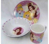 Детская посуда Интерос PRINCESS подарочный набор 3ка