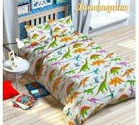 Комплект постельного белья Динозаврики