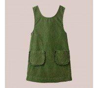 Сарафан для девочки Рюши, зелёный