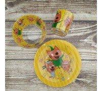 Набор детской посуды Disney Три кота 3 предмета