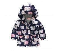 Куртка-ветровка для девочки Мяу
