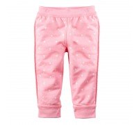 Штаны для девочки Горошек, розовый