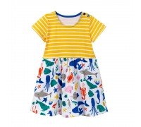 Платье для девочки Морские животные
