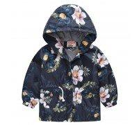 Куртка-ветровка для девочки Цветы шиповника